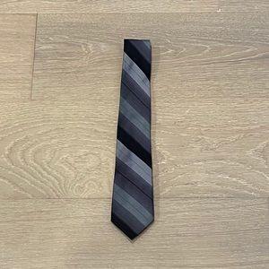 Original Penguin Striped Silk Tie (Gray/Green)
